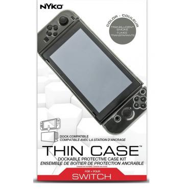 Nintendo Switch Nyko Thin Case + Tempered Glass Screen Protector Smoke Case